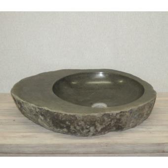 Vasque à poser en pierre de rivière ø 40 cm - playa - Installations salles  de bain - Achat   prix   fnac 591d6b54f446