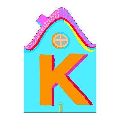 Djeco - Lettre petite maison en bois - K