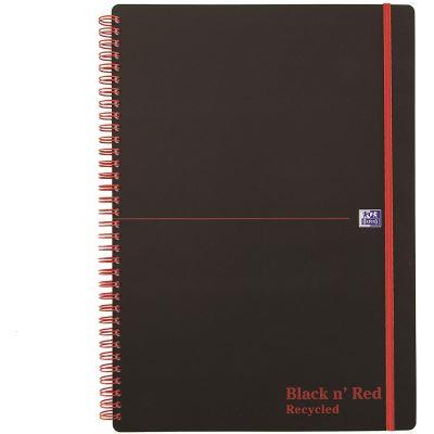 Black n Red Cahier à spirale Polypropylène Papier recyclé A4 (Import Royaume Uni)