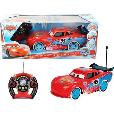 SIMBA Disney Cars Ice Racing RC Ultimate Lightning McQueen / Voiture de Course avec Télécommande, 1:12