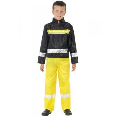 Costume pompier fireman pour enfant - 7-9 ans