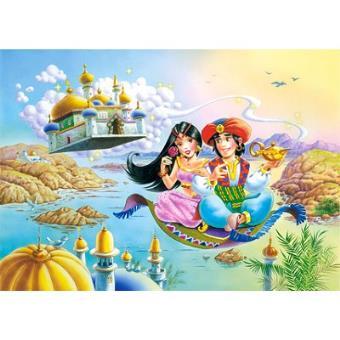 Puzzle 54 Pieces Mini Puzzle Aladin Et Yasmine Sur Le Tapis