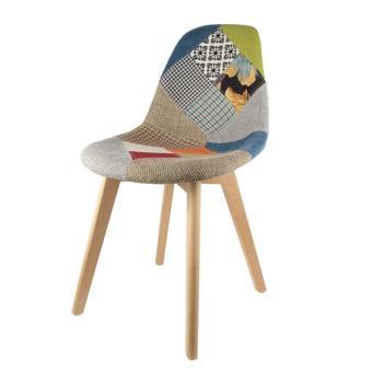 chaise scandinave patchwork multi couleur