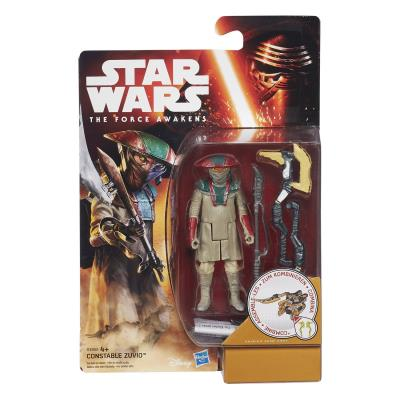 Hasbro - B3968 - Star Wars : The Force Awakens - Constable Zuvio - Figurine 9 cm + Accessoires
