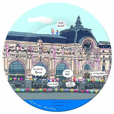 Assiette paris : musée d'orsay petit jour paris
