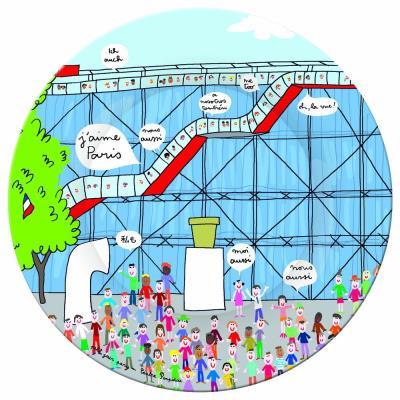 Assiette paris : centre pompidou petit jour paris