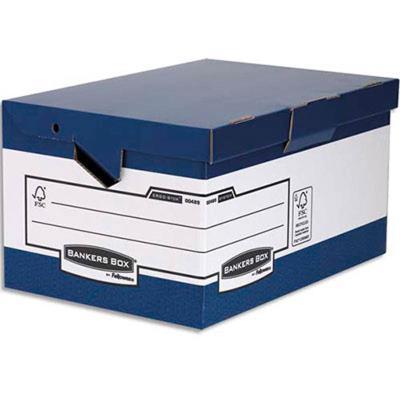 Lot de 10 conteneurs Maxi HEAVY DUTY. Montage automatique. Carton blanc/bleu
