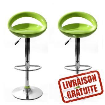tabouret de bar snack vert anis lot de 2 achat prix fnac. Black Bedroom Furniture Sets. Home Design Ideas