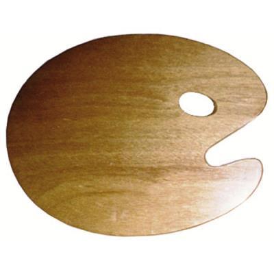 Palette ovale en bois 25x30cm - épais. 3mm - Bois