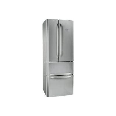 Hotpoint Quadrio E4D AA X C - réfrigérateur/congélateur - style français - pose libre - inox