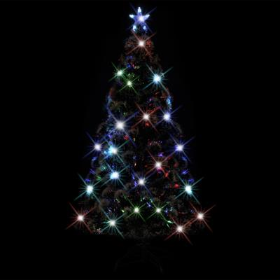 vidaXL Arbre de Noël artificiel avec support en acier/LED 210 cm 280 Branches
