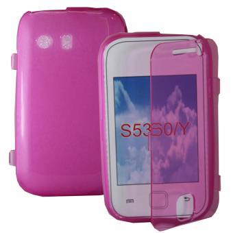 Coque silicone gel Livre rabat pour Samsung Galaxy Y Neo GT-S5360 S5369i - ROSE
