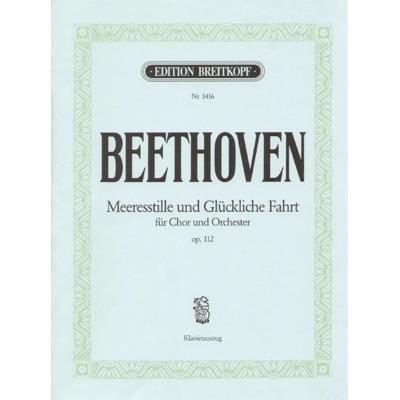 Partitions classique EDITION BREITKOPF BEETHOVEN L.V. - MEERES STILLE OP. 112 - CHANT, CHOEUR, PIANO Choeur et ensemble vocal