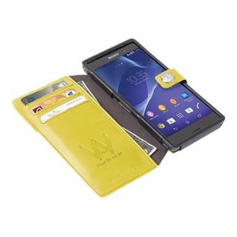 Walk On Water DropOff - Flip cover voor mobiele telefoon - polyurethaan - geel - voor Sony XPERIA Z3
