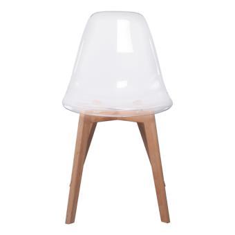 chaise scandinave transparent achat prix fnac - Chaise Scandinave Transparente