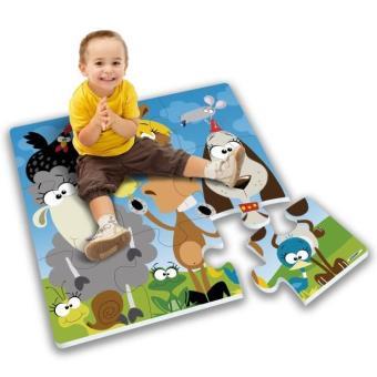 Stamp Tapis Puzzle Geant Mousse Animaux De La Campagne 9pcs Avec Boite Couleur Tp674007