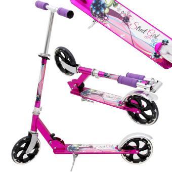 trottinette abec 9 pliable patinette rose grande roue sport fille street girl glisse urbaine. Black Bedroom Furniture Sets. Home Design Ideas
