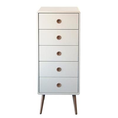 Steens group 3600050050000f commode à 5 tiroirs mdf verni blanc 41 x 40 x 105 cm