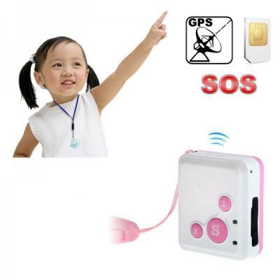 Mini traceur GPS tracker GPRS micro espion GSM télésecours SOS Rose