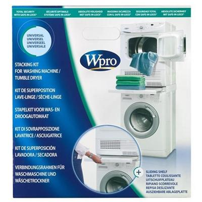 Wpro kit de superposition avec tablette pour machine a laver sks100