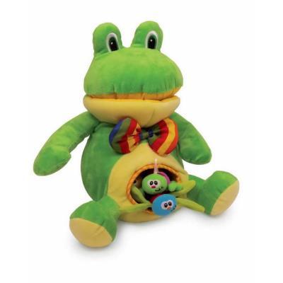 Peluche de la grenouille et ses petits Linda