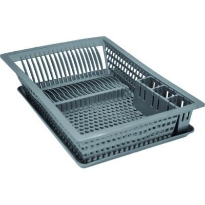 Aluminium et plastiq egouttoir vaisselle+plat. 49x36 silver