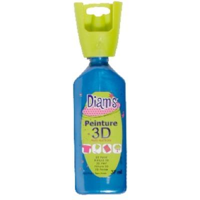 Peinture Diam's 3D 37 ml - Nacré - Bleu Méditerranée - Diam's