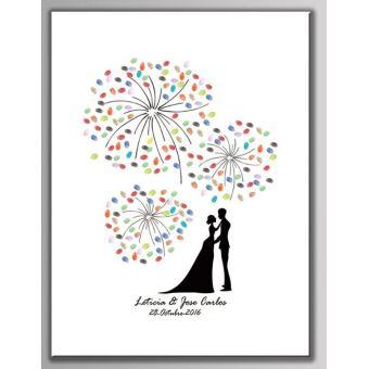 tableau empreintes pour les invit s pour les v nements comme mariage anniversaire bapt me. Black Bedroom Furniture Sets. Home Design Ideas