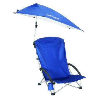 Sklz sportsbrella fauteuil de plage pliable avec parasol bleu