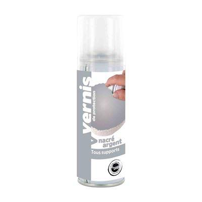 Vernis nacré argent spray 125 ml - megacrea