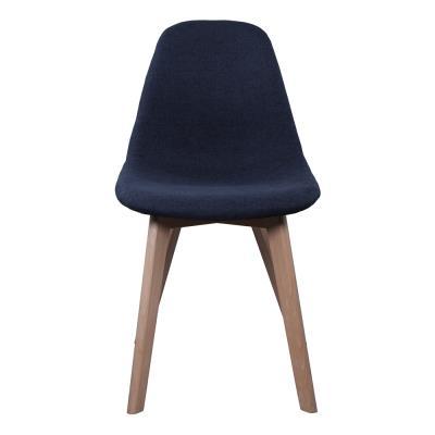 Chaise scandinave - Tissu - Noir