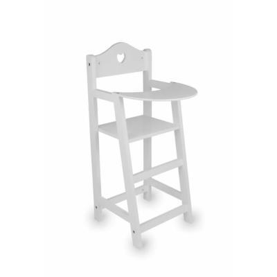 Chaise haute pour poupées cœur blanc Pipa
