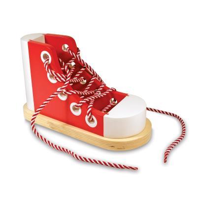 Chaussure en bois à enfiler des lacets Viviane
