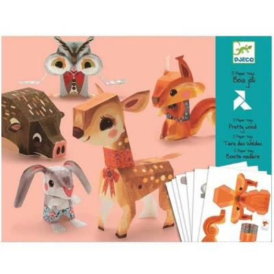 Pliage collage papier les animaux Jeu de loisirs créatifs Djeco Enfants 9 à 15 +