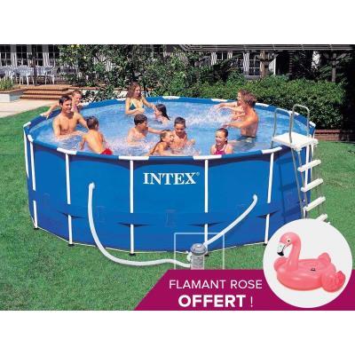 piscine tubulaire intex metal frame ronde 4,57 x 1,22 m - achat
