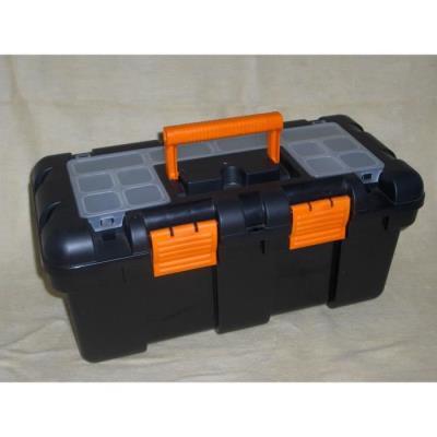 grande caisse boite a outils en plastique pour bricolage rangement d'outil 50x25x24 cm