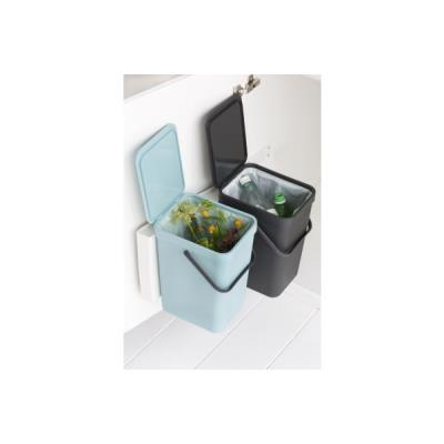 Poubelle BRABANTIA Built-in Bin Sort & Go 2x16L Mint & Grey
