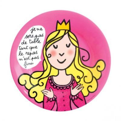 Petit Jour - Princesses - Assiette Princesses : Le repas n'est pas fini
