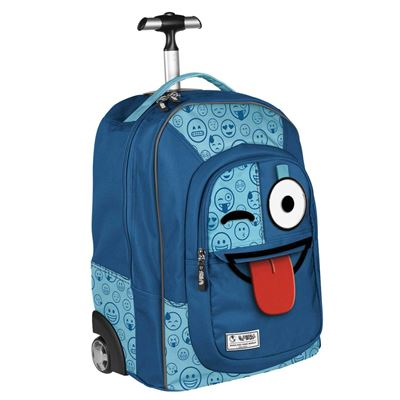 Trolley Spirit Emoticons Blue Tamaño: 34,5x48x23,5cm.
