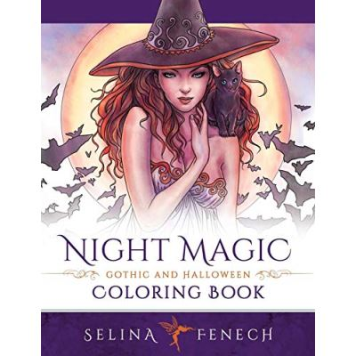 Night Magic - Gothic and Halloween Coloring Book: Volume 10 (Fantasy Coloring by Selina) - [Livre en VO]