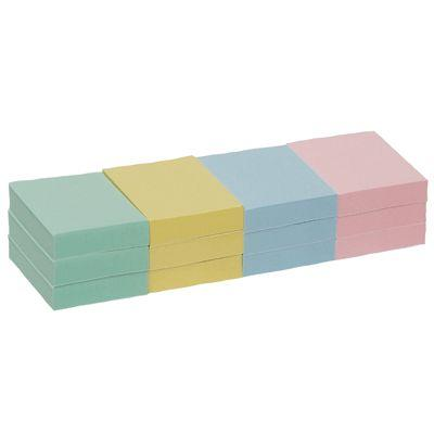 Business - Bloc Note Repositionnable 38x51mm Coloris Pastel - Lot De 12