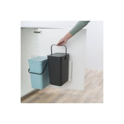 Poubelle BRABANTIA Built-in Bin Sort & Go 2x12L Mint & Grey