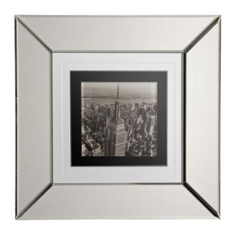 Premier housewares 7025e d coration murale new york city encadr e cadre effet miroir noirblanc - Decoration murale miroir ...