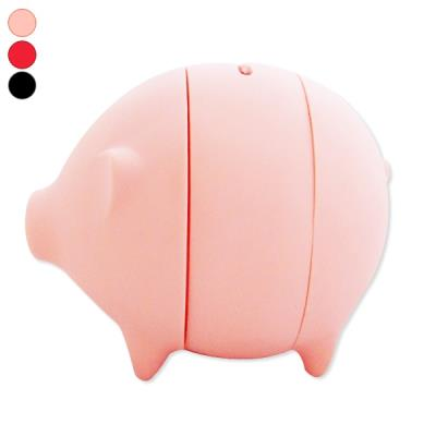 Tirelire cochon à ouverture facile cochon à trancher noir