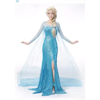 La reine des neiges robe elsa d guisement adulte d guisement adulte achat prix fnac - Robe elsa reine des neiges ...