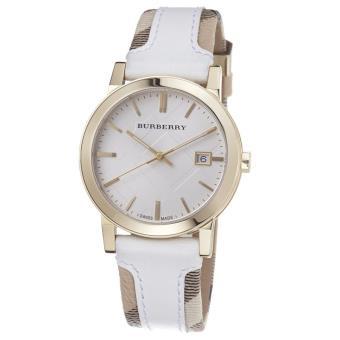 nouveau produit 4633a 42d8d Montre Femme Burberry BU9015 bracelet cuir - Montre Femme ...