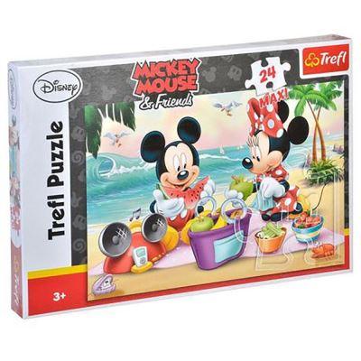 Maxi Puzzle Mickey et Minnie 24 Pièces - Puzzle 3 ans et +