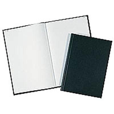 Registre toilé, folioté, format 25 x 32 cm, 200 pages, quadrillé 5 x 5. Coloris noir