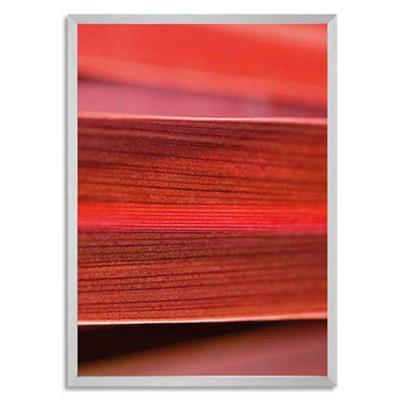 Cadre extra profond Gallery Bold en aluminium anodisé et brossé - L50 x H70 cm argenté