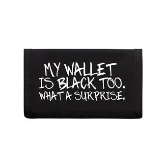 parcourir les dernières collections premier taux grande remise Porte-feuille My Wallet Is Black Too 13 x 8 cm noir
